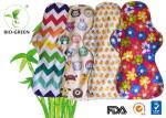 Colorful Bamboo Waterproof Changing Pad , Absorbed Breathable Bamboo Panty Liners