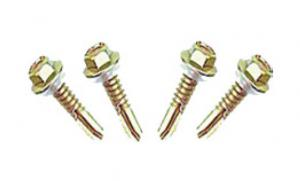 China 25mm long galvanized steel self drilling metal screws for thin steel plate / pipe on sale