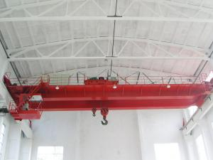 China 50t Double Girder Overhead Cranes with Two Torsion-free Box Girders on sale