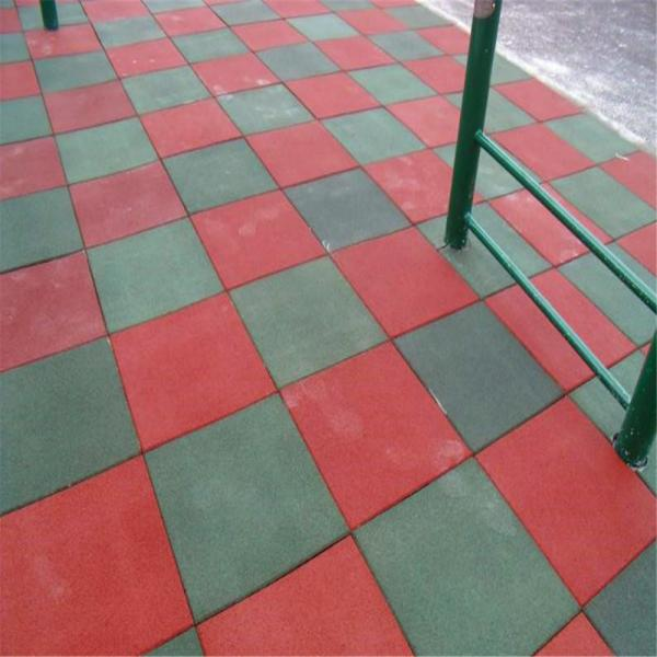 Outdoor Rubber Tiles Safety Playground Rubber Tile For Sale Rubber