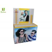 China Printed  Sunglasses Cardboard Display Stands Cylindrical Pile Head on sale