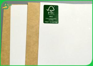 China 300g 325g White Face Kraft Liner Board For Food Grade Package on sale