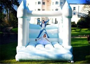China White And Blue Color Inflatable Bouncer , Wedding Inflatable Bouncer For Sale on sale