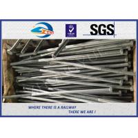 Railway Structural bolt with nut Hot Dip Zinc with 24x900mm 45# material