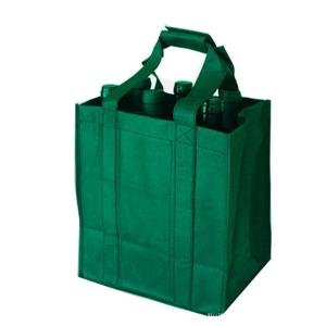 China Durable Green Non Woven Shopping Bag  Wine Bottle Totes ISO9001 Certification on sale