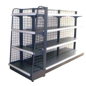 China Commercial Wire Rack Storage Shelves , Metal Wire Shelving 0.8mm Top Cover on sale