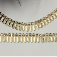 China Custom ladies handbag diamond hardware gold metal chain for handle bag on sale