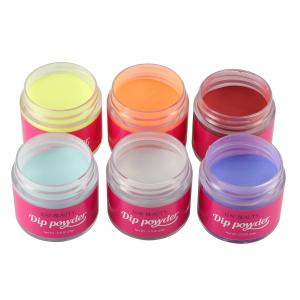 China custom private label 2000 color 1oz dipping powder acrylic nails dip pink color DIY nail salon on sale