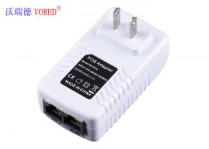 China US Plug Ethernet Power Supply , Over Current Protection POE Power Supply on sale
