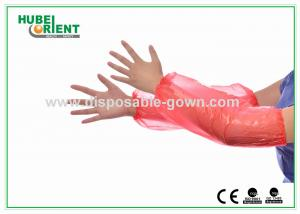 China PE Waterproof Disposable Arm Sleeves 16 / 18 inch PE Over Sleeves on sale
