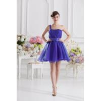 Fashionable 2013 One Shoulder Organza A Line Womens Cocktail Party Dresses , Custom Colors