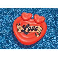 China Outdoor Island Swimming Pool Inflatable Floating Raft 63 Heart Shaped OEM ODM on sale