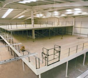 Structural steel mezzanine floor racking powder coating for Mezzanine floor construction details
