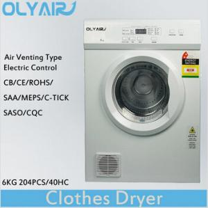 China OlyAir air vented clothes dryer 6Kg electric control OZ60-16EW Australia standard on sale