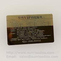 Customized metal business cards print etched metal cards in mass production