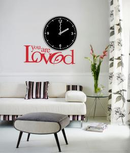 China Love Theme 3M Removable Vinyl Wall Decal / Wall Sticker Clock (Easy to Paste) 25A012 on sale