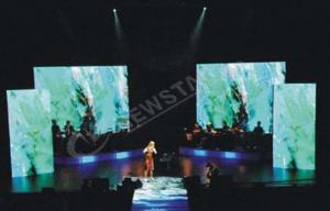 China Ultra Thin Rotating Curtain Led Display For Advertising , Flexible Led Screen on sale