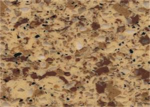 China Artificial Crystal Custom Quartz Countertops Yellow Quartz Stone Solid Surface on sale