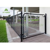 China Easy Installation Steel Chain Link Fence , Galvanized Iron Diamond Wire Mesh Fence on sale