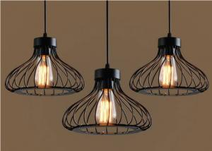 China Iron Art Retro LED Cafe Lights / Modern Chandeliers For Dining Room / Restaurant on sale