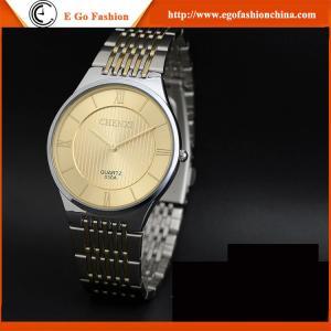 China Reloj de oro de los relojes de Fast&Furious 7 del acero inoxidable de la correa del vintage del reloj retro unisex del reloj on sale
