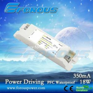 China PFC 350mA18W Constant Current Led Power Supply Ce Ul,UL power driver,led down light driver on sale