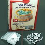 Torta de 100 pedazos que adorna helando la formación de hielo que adorna con el sistema del equipo de la caja de almacenamiento DIY