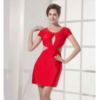 Polyester Clubwear Hollow Out Bodycon Sexy Red Modest Casual Dresses Couture