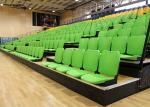 Gymnasium Retractable Stadium Seating Anti - Slip Plywood Decking With Blow Moulded Seats