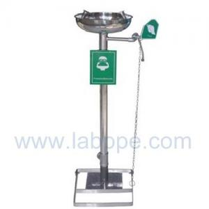Quality SHE150S-Stand emergency eyewash station,SS304,Color:Yellow,red,green for sale