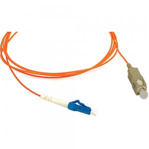 China SC to LC Simplex Multimode 62.5 / 125 μm Fiber Optic Patch Cord for Transmitter on sale