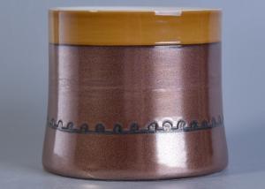 China Customized Print Metal Glazing Candle Holder Ceramic For Wedding Decoration on sale