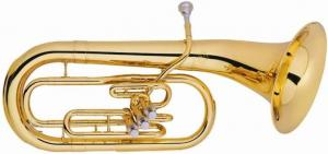 China 3 Piston Marching Horn / Euphonium Gold Lacquer Brass Musical Instrument For Students on sale
