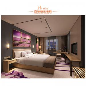 China Low Back Hotel King Size Bed For Resort Traveling / Resident Bedroom Furniture on sale