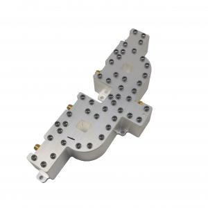 China 8.5-10.5ghz Coaxial Waveguide Power Divider 4 Way Power Splitter Silver Plating on sale