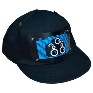 China China supply customized  flashing el hats music activated led caps with wireless inverter high brightness on sale