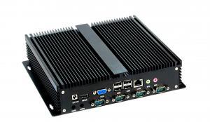 China industrial embedded industrial mini PC Intel J1900 4G RAM 120G SSD Fanless Aluminum casing on sale