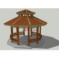 Waterproof Prefab Gazebo Kit ,  High Density Outdoor Covered Gazebo 6.77m * 7.12m * 6.12m