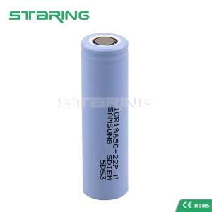 China Cheapest and hot rechargeable lithium batteries Samsung SDI 18650 10A 22P 22PM 22FM 2200mah on sale
