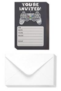China Video Game Theme Invitation Postcards Black Color Birthday Party Usage on sale