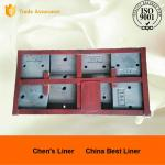 China Low-Cr 46M Alloy Steel Forging Class Corner Rail Section Ball Mill Liners UTS 790Mpa wholesale