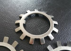 China SS304 SS316 MS Steel Lock Washer With External Teeth Serrated , Natural Color on sale
