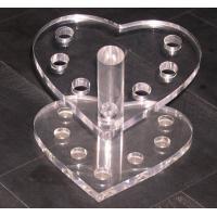 China Heart Shape Acrylic Stationery Holder ,Acrylic Pen Display Stand on sale