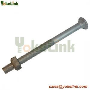 China Carbon steel galvanized carriage bolt 3/8,1/25/8 with nut on sale