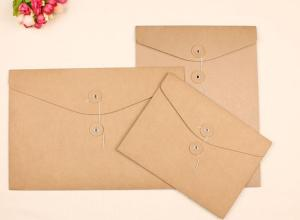 China Waterproof Wallet A4 Paper Folder String Document Holder Paper File Bags on sale