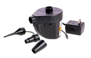 China Rechargeable air pump with AC / DC adapter for air beds and inflate rafts on sale
