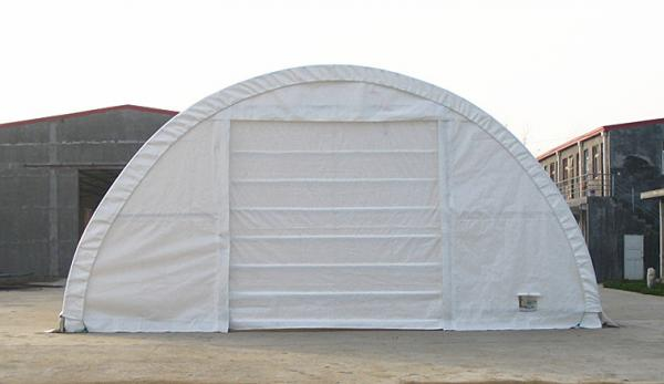 Portable Dome Shelters : M wide temporary shed trussed frame shelter commercial