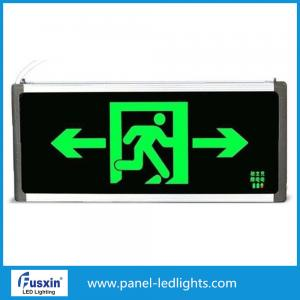 China 2 X 8w ont mené les signes de sortie de secours, lumières menées de sortie de secours avec le support de batterie on sale