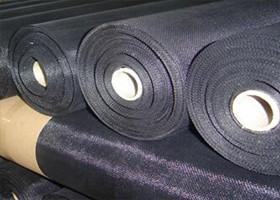 China Ultra Thin Black Wire Cloth , Wire Mesh Hardware Cloth Low Carbon Steel on sale