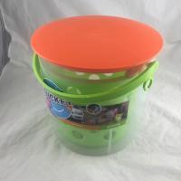 Rustproof Green Household Storage Racks , Telescopic Handle Fishing Bucket